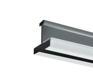 Напречен Т-Профил ATENA Easy Line 14,5 Бял с черен канал - 3600 мм