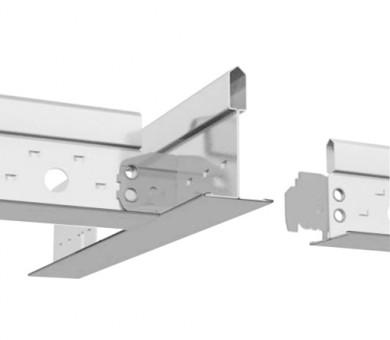 Влагоустойчив сребрист Напречен Профил Armstrong Prelude T24 CR TL+ Exposed 24mm Grid System Silver RAL 9006 - 1200 мм