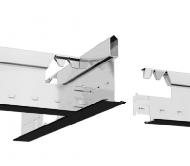 Черен Напречен Профил Armstrong Prelude T24 TLS Exposed 24mm Grid System Black - 600 мм