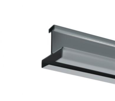 Напречен Т-Профил ATENA Easy Line 14,5 Сребрист с черен канал - 3600 мм