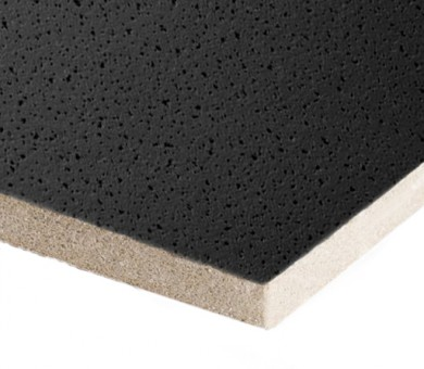 Минералфазер Черно Пано Armstrong Colortone Fine Fissured Black Board прав борд - 15/600/600 мм