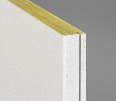 Стенно пано минерална вата Ecophon Akusto Wall C / Akutex FT White Fros - 40/600/2700 мм