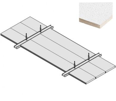 4 бр. Пожароустойчива система KNAUF Ceiling Solutions F30 Uno Sahara - 40/300/1800 мм