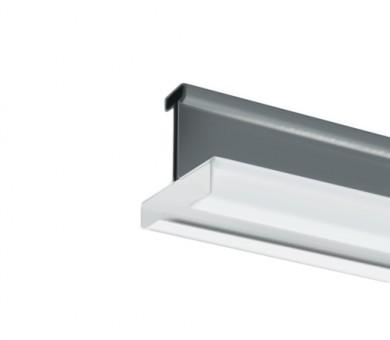 Напречен Т-Профил ATENA Easy Line 14,5 Бял с бял канал - 3600 мм