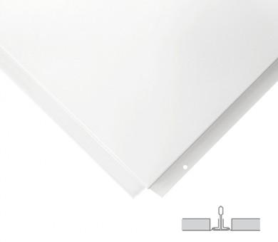 Метално пано Armstrong Lay In Plain Tegular 2 White - 15/600/600 мм