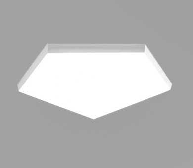 Висящо пано минерална вата Ecophon Solo Freedom Pentagon White Fros - 40/1139/1198 мм