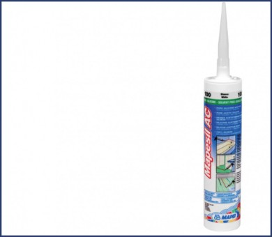 Силикон MAPEI Mapesil AC 310 мл - 100 White