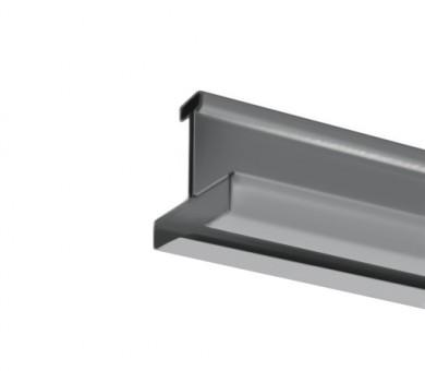 Напречен Т-Профил ATENA Easy Line 14,5 Сребрист със сребрист канал - 1200 мм