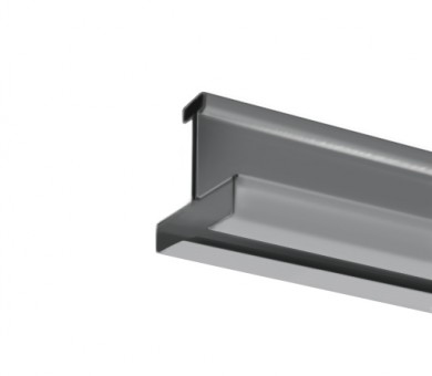 Напречен Т-Профил ATENA Easy Line 14,5 Сребрист със сребрист канал - 3600 мм