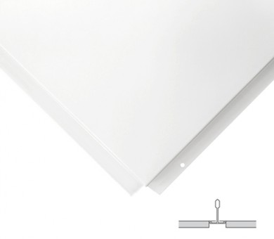 Метално пано Armstrong Lay In Plain Tegular 8 White - 8/600/600 мм