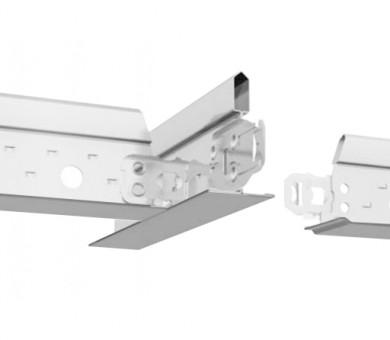 Сребрист Носещ Профил Armstrong Prelude T24 Exposed 24mm Grid System Silver RAL 9006 - 3600 мм