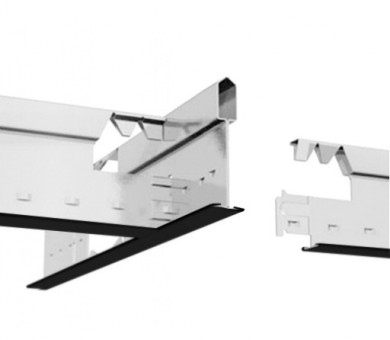 Черен Напречен Профил Armstrong Prelude T15 TL Exposed 15mm Grid System Black - 600 мм