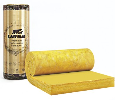 Стъклена вата с жълт воал URSA GOLD SF 32h/Vk - 120/1200/3200 мм