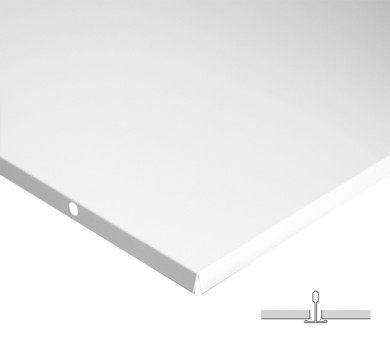 18 бр. Метални пана KNAUF Armstrong Ceiling Solutions Lay In Plain Board White - 15/600/600 мм