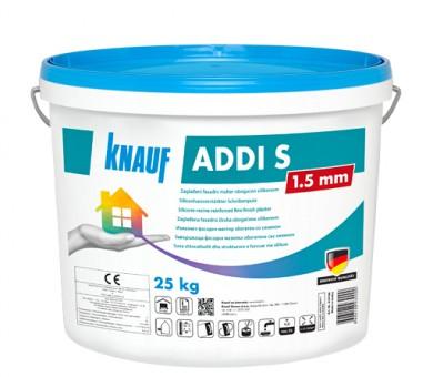 Бяла силиконова фасадна мазилка драскана структура Knauf ADDI S 1,5 мм - 25кг