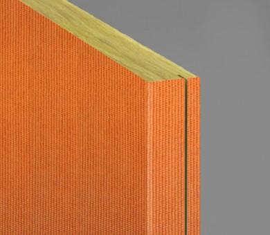 Стенно пано минерална вата Ecophon Akusto Wall C / Texona Tangerine - 40/600/2700 мм