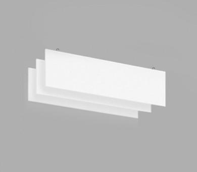 Висящо пано с кука от минерална вата Ecophon Solo Baffle Hook White Fros - 40/300/1800 мм