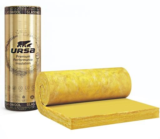 Стъклена вата с жълт воал URSA GOLD SF 32h/Vk - 100/1200/4000 мм