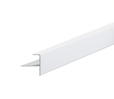 Бял Преходен Профил KNAUF Armstrong Ceiling Solutions F Upstand for 13mm Panels White - 3050 мм