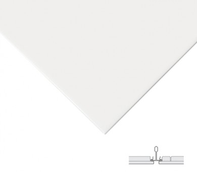 10 бр. Метални пана KNAUF Armstrong Ceiling Solutions Lay In Plain Axal Vector White - 24/600/600 мм