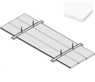 4 бр. Пожароустойчива система KNAUF Ceiling Solutions F30 Uno Laminated White Fleece - 40/300/1800 мм