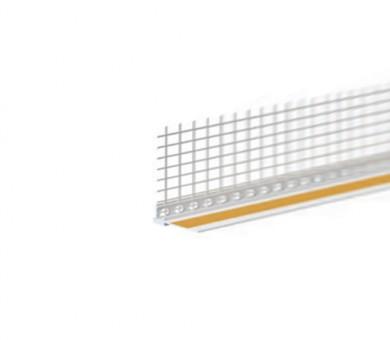 Завършващ PVC профил с армираща мрежа Knauf - 2600 мм