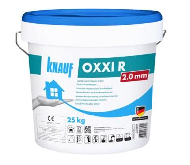 Бяла акрилна фасадна мазилка влачена структура Knauf OXXI R 2 мм - 25кг