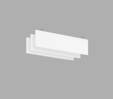 Висящо пано с кука от минерална вата Ecophon Solo Baffle Hook White Fros - 40/200/1200 мм