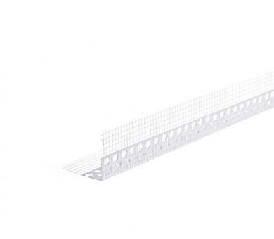 Ъглозащитен PVC профил с мрежа Knauf - 100/100/2500 мм