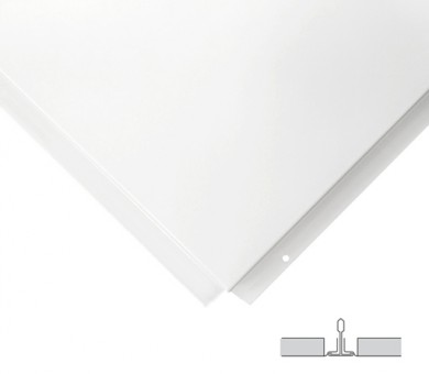 18 бр. Метални пана KNAUF Armstrong Ceiling Solutions Lay In Plain Tegular 2 White - 15/600/600 мм