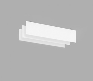 Висящо пано с котва от минерална вата Ecophon Solo Baffle Anchor White Fros - 40/200/1800 мм
