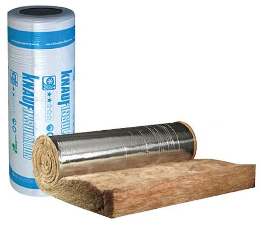Стъклена вата с алуминиево фолио Knauf Insulation Classic Alu - 50/1200/10000 мм