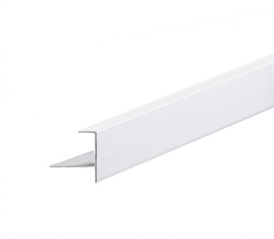 Бял Преходен Профил KNAUF Armstrong Ceiling Solutions F Upstand for 16mm Panels White - 3050 мм