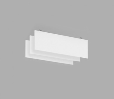 Висящо пано с котва от минерална вата Ecophon Solo Baffle Anchor White Fros - 40/300/1200 мм