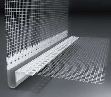 PVC профил за деформационни фуги с мрежа V-образен - 2500 мм