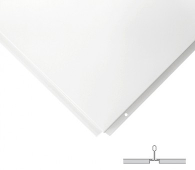 16 бр. Метални пана KNAUF Armstrong Ceiling Solutions Lay In Plain MicroLook 8 White - 8/600/600 мм