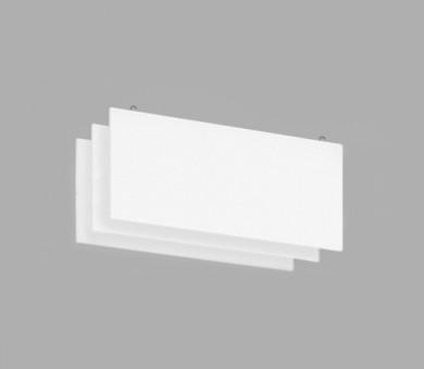 Висящо пано с кука от минерална вата Ecophon Solo Baffle Hook White Fros - 40/600/1800 мм