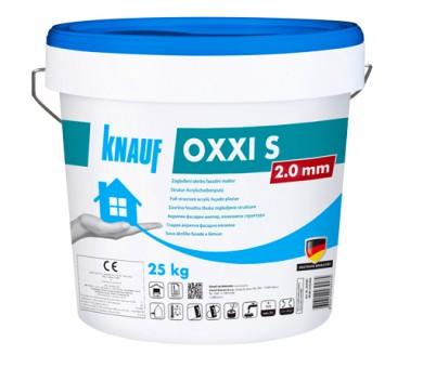 Бяла акрилна фасадна мазилка драскана структура Knauf OXXI S 2 мм - 25кг