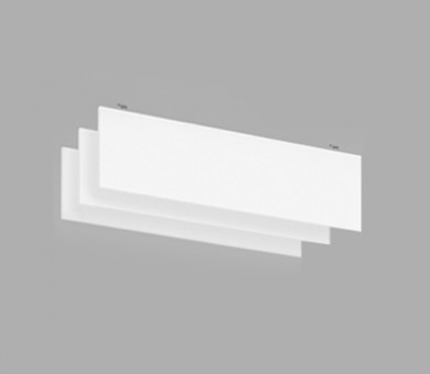Висящо пано с котва от минерална вата Ecophon Solo Baffle Anchor White Fros - 40/300/1800 мм