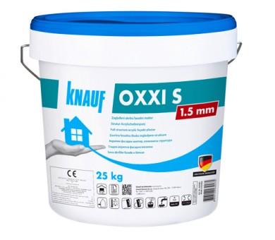 Бяла акрилна фасадна мазилка драскана структура Knauf OXXI S 1,5 мм - 25кг