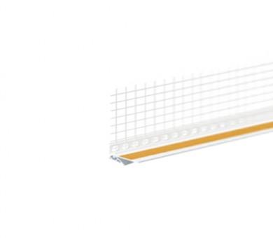 Завършващ PVC профил с армираща мрежа Knauf Dynamik 2D бял - 2600 мм