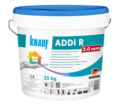 Тонирана силиконова фасадна мазилка влачена структура Knauf ADDI R 2 мм - 25кг