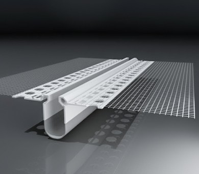 PVC профил за деформационни фуги с мрежа Е-образен - 2500 мм