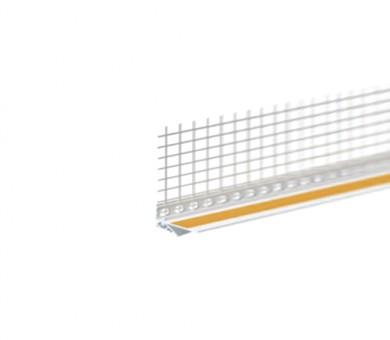 Завършващ PVC профил с армираща мрежа Knauf Dynamik 2D сив - 2,6м