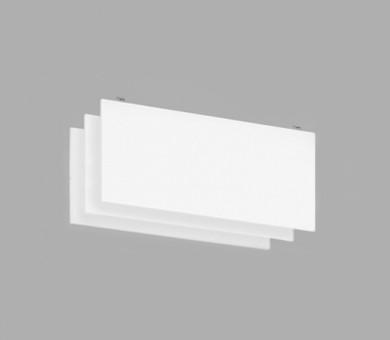 Висящо пано с котва от минерална вата Ecophon Solo Baffle Anchor White Fros - 40/600/1800 мм