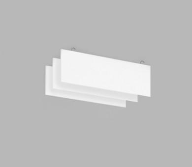 Висящо пано с кука от минерална вата Ecophon Solo Baffle Hook White Fros - 40/300/1200 мм