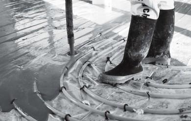 Калциево-сулфатна саморазливна замазка за подово отопление Knauf F311