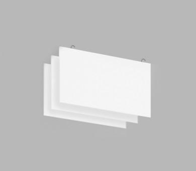 Висящо пано с кука от минерална вата Ecophon Solo Baffle Hook White Fros - 40/600/1200 мм