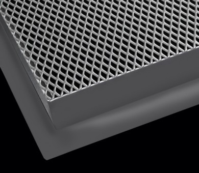 12 бр. Метални пана KNAUF Armstrong Ceiling Solutions Lay In Mesh Metal RB25 MicroLook - 600/600 мм